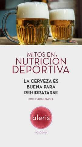 Mitos nutrición deportiva cerveza