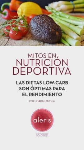 Mitos nutrición deportiva: Dietas low-carb