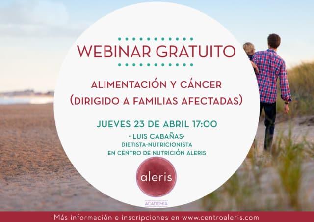 Webinar alimentación y cáncer para familias